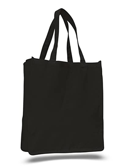 879275f15df3 BagzDepot (12 PACK) Heavy Duty Large Canvas Reusable Plain Tote Bags in Bulk
