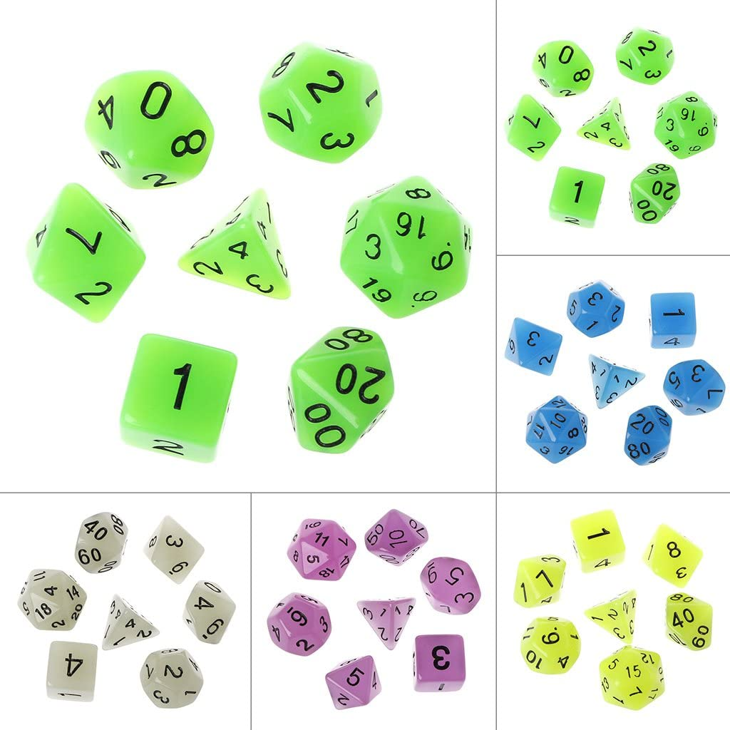 lpyfgtp 7 pcs Multilateral 15mm Polyhedral Acrylic Dice Transparent Cube Round Corner Portable Table Playing Beige