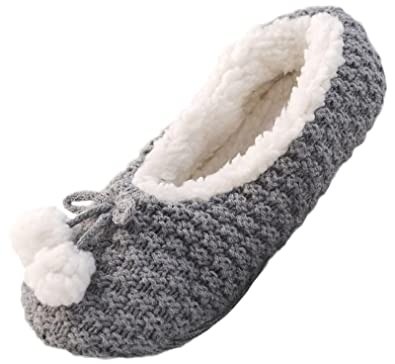 5dd8184e05cd Lora Dora Faux Fur Lined Slipper Socks  Amazon.co.uk  Shoes   Bags