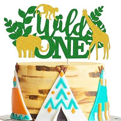 Decoración para tarta con diseño de animales salvajes de ...