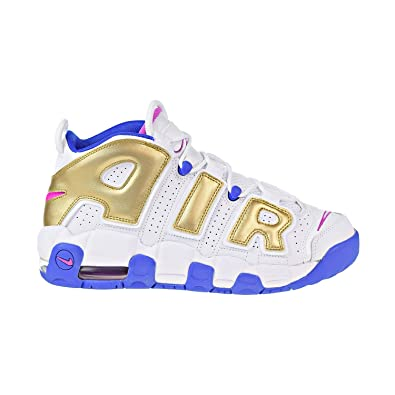 the best attitude 703d8 1abaa Nike Air More Uptempo Big Kid s Basketball Shoes White Fuchsia Blast  415082-106 (