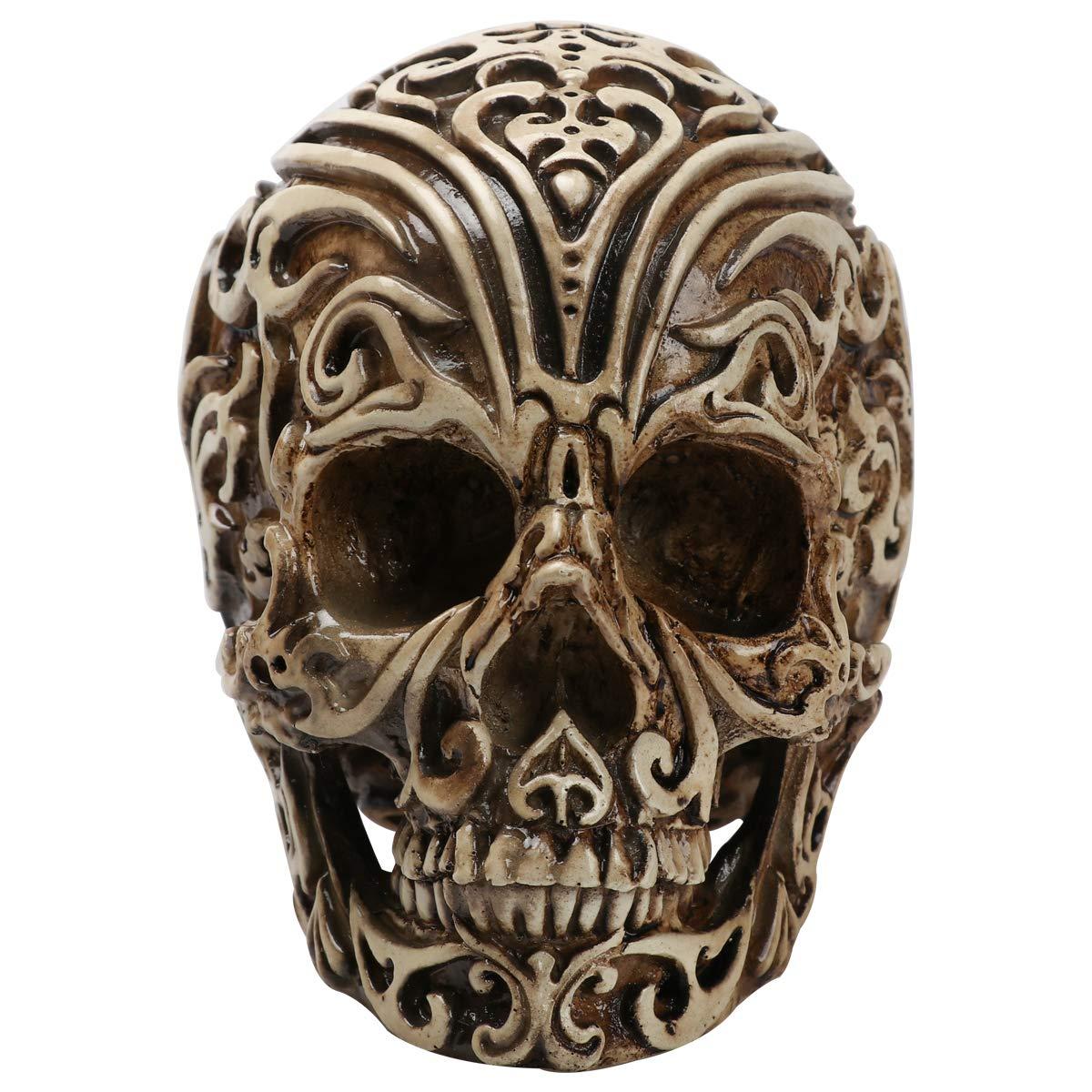 Black CHDL Grinning Realistic Replica Human Skull Shantou Home Statue Skull Head Bone Model