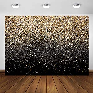 CYLYH 8X6ft Gold Glitter Sequin Spot Backdrops Vintage Astract Glitter Background Wedding Adult Baby Children Holiday Party Party Decor D417