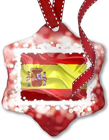 Adorno de Navidad, de bandera de España 3d rojo – Neonblond: Amazon.es: Hogar