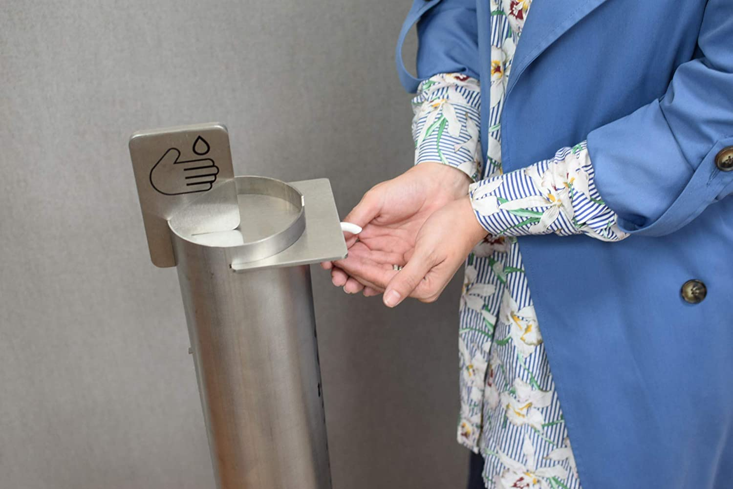 no contact with hands Po/ço Foot Operated Hand Sanitizer Dispenser hygienic durable /& robust