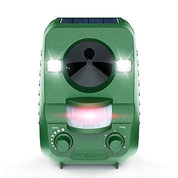 Ahuyentador de Gatos anglink Solar por ultrasonido contra funciona con batería y flash – Impermeable –