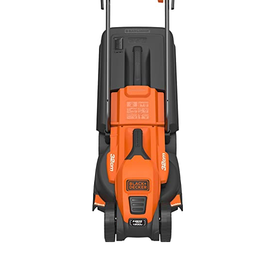 Black & Decker EMax32 - Cortacésped (Cortacésped manual, 32 cm, 2 cm, 8 cm, Cuchillas giratorias, 20-80)