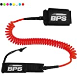 STORM PREMIUM SUP Leash 10 Foot COILED by BPS – Choose Color and with or without Waterproof Wallet