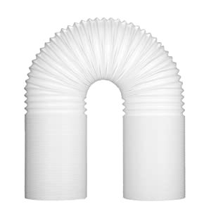 Fitfirst 5 inch Diameter Exhaust Hose for Portable Air Conditioner, 78 inch Extra Long Counterclockwise Air Vent Hose