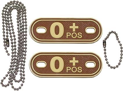 3d grupo sanguíneo marca con cadena//reconocimiento marca collar remolque Dog Tag MFH