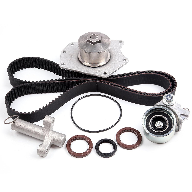 SCITOO Timing Belt Kit + Water Pump Fits 98-04 Chrysler LHS 300M Dodge 3.2L 3.5L SOHC 110222-5206-1652181