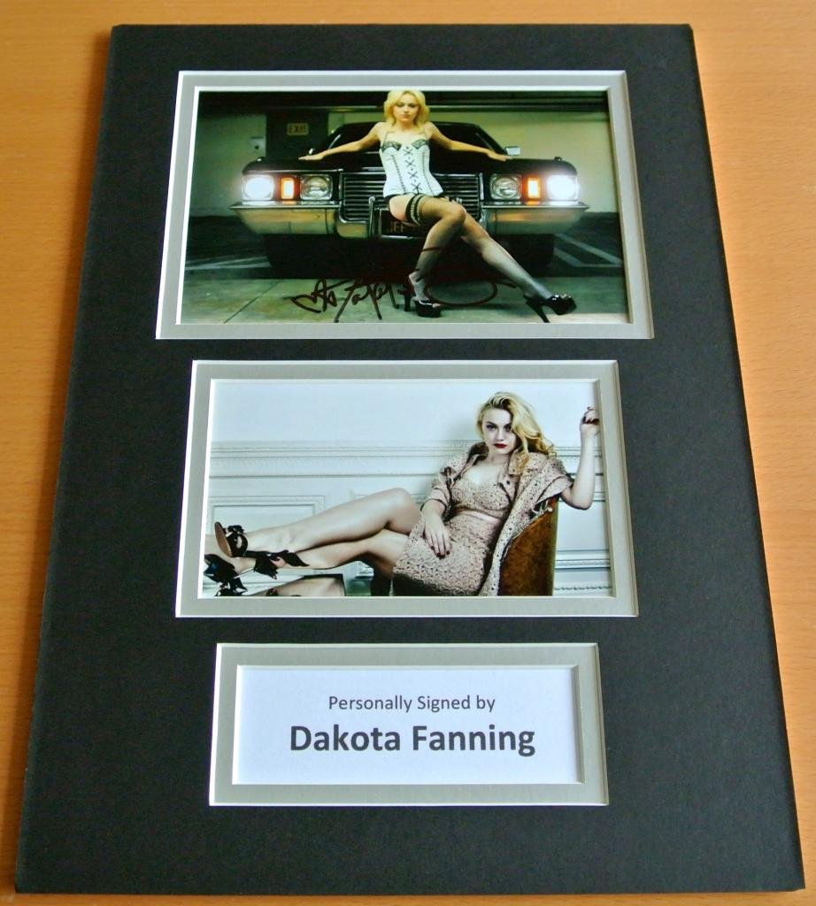 Sportagraphs DAKOTA FANNING SIGNED autograph A4 Photo Mount Display TWILIGHT Saga Film & COA PERFECT GIFT