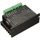ステッパーモータードライバコントローラー,SODIAL(R)20KHZ CNC単軸TB6600 2/4相ハイブリッドステッピングモータドライバ・コントローラ 黒