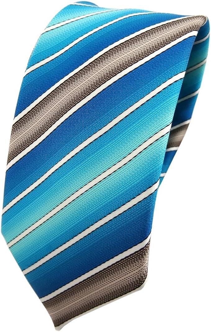 TigerTie - corbata estrecha - turquesa agua azul ozeanazul crema ...