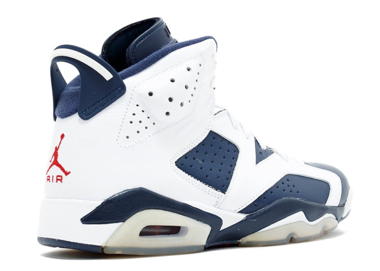 online retailer e537b 26d6e ... new arrivals amazon jordan air 6 vi retro olympic mens basketball shoes  white midnight navy varsity