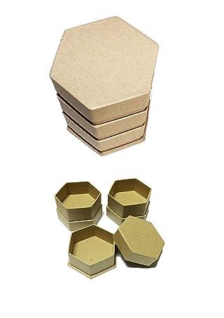 Casa Ydeal Store Cajas de Cartón. Pack de 3x6 uds. Tamaño 9cm x 11cm