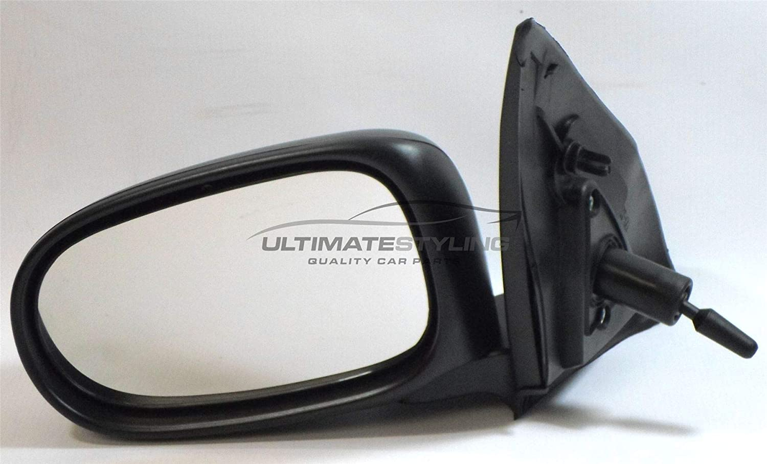 Ultimate Styling Replacement Cable None Power Folding Wing Door Mirror With Non-Heated Glass With Black Mirror Cover Cap Side Of Product Passenger Side LH