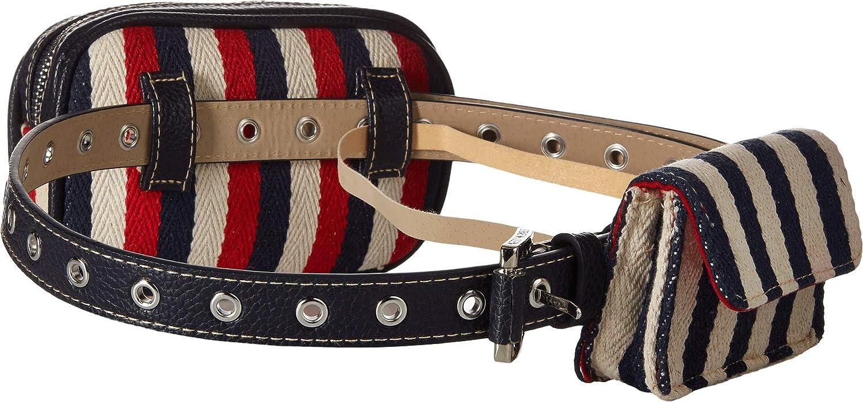Steve Madden Womens Double Belt Bag Navy XL