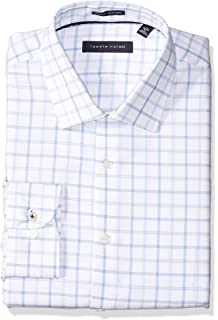 d143151c Tommy Hilfiger Men's Dress Shirt Slim Fit Non Iron Solid at Amazon ...