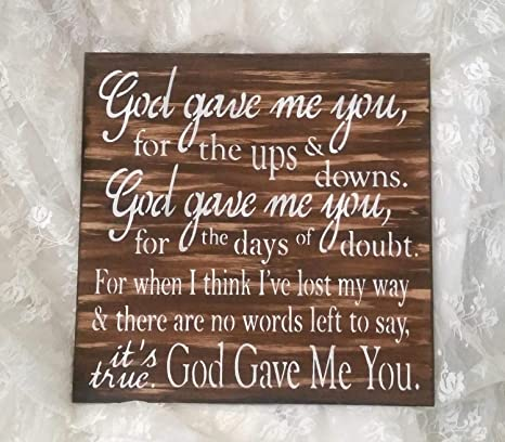 Amazoncom Pealrich God Gave Me You Wood Sign Wooden Decor