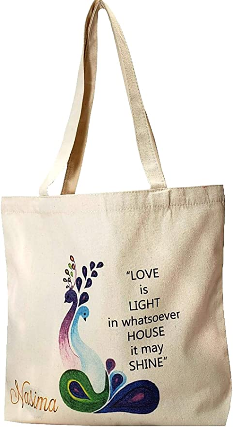 Women Canvas Shoulder Tote Bag Large Capacity Cotton Cloth Eco Shopping Bags