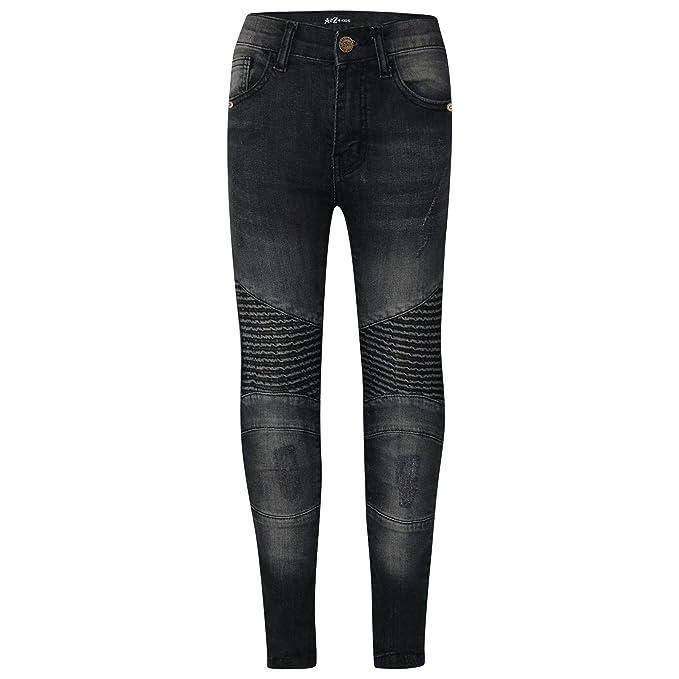 9603a8be277c A2Z 4 Kids Kids Stretchy Jeans Ripped Knee Drape Panel Denim Fit Pants - Boys  Jeans