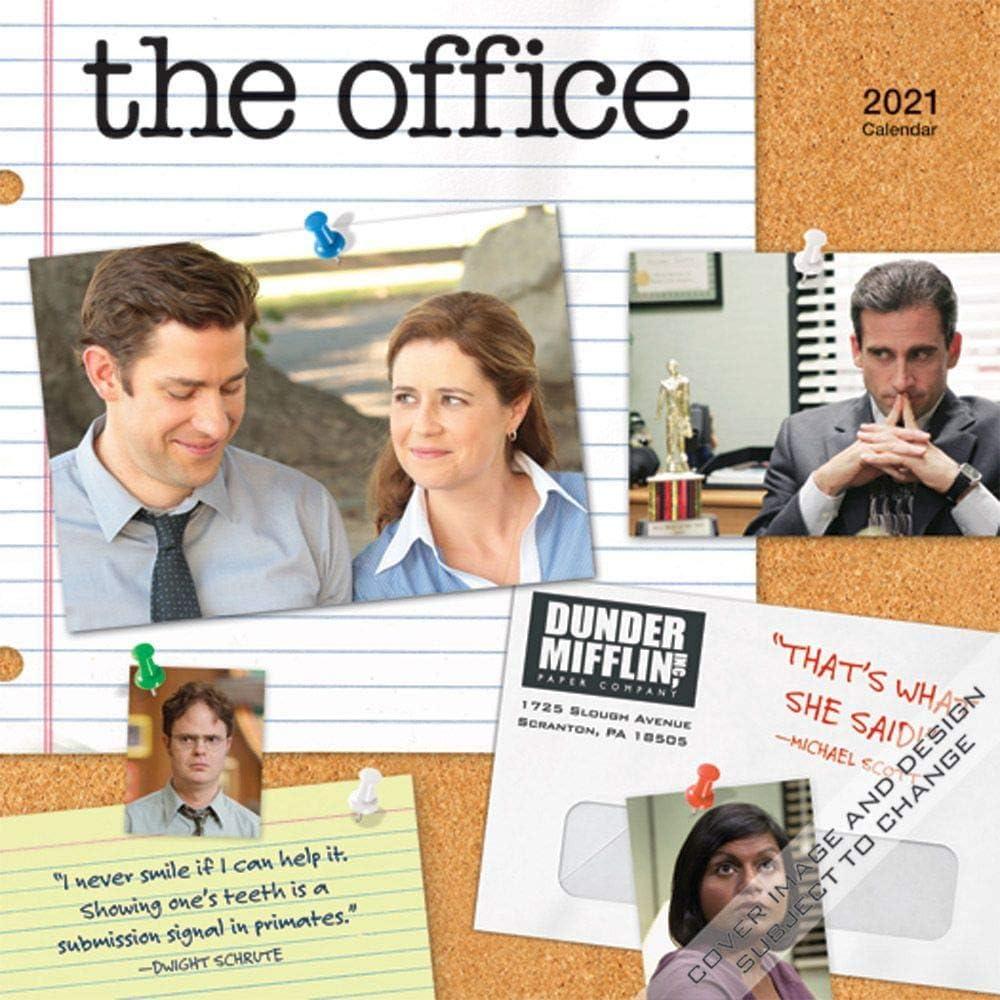 The Office Calendar, 2021 Mini Wall Calendar, The Office Merchandise