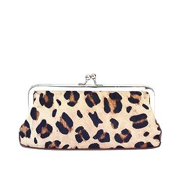 PollyTech Ltd. - Cartera de mano para mujer Leopardo marrón: Amazon.es: Equipaje