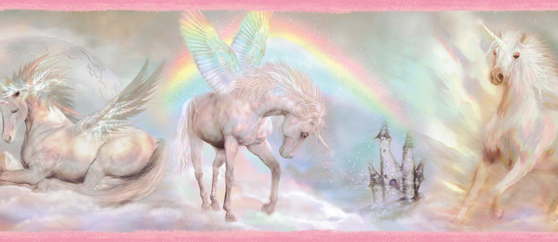 Chesapeake TOT46441B Farewell Pink Unicorn Dreams Portrait Wallpaper Border