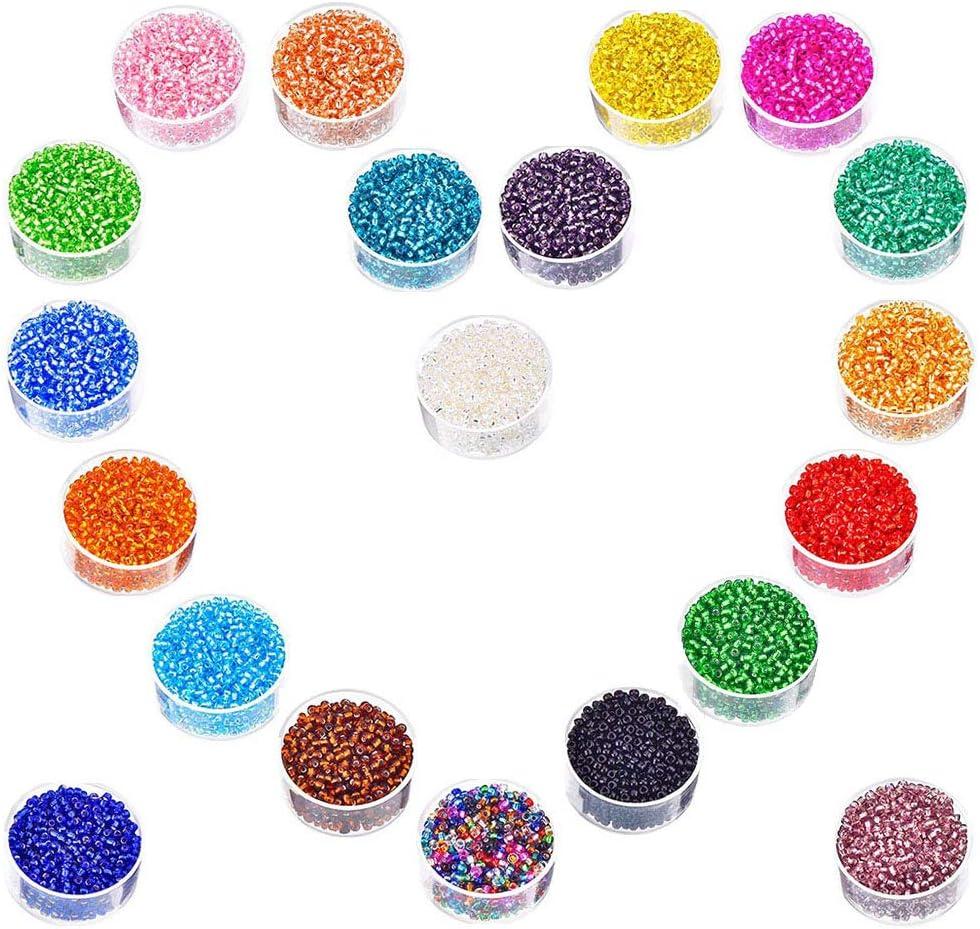 Cuentas de Cristal Multicolor, Cuentas Redondas de Cristal de 2 mm Mini Cuentas de Cristal Para Los Niños DIY Bracelet Arte y Joyería-Making, Cadena de Cuentas de Fabricación de Juego, Fadeless Color