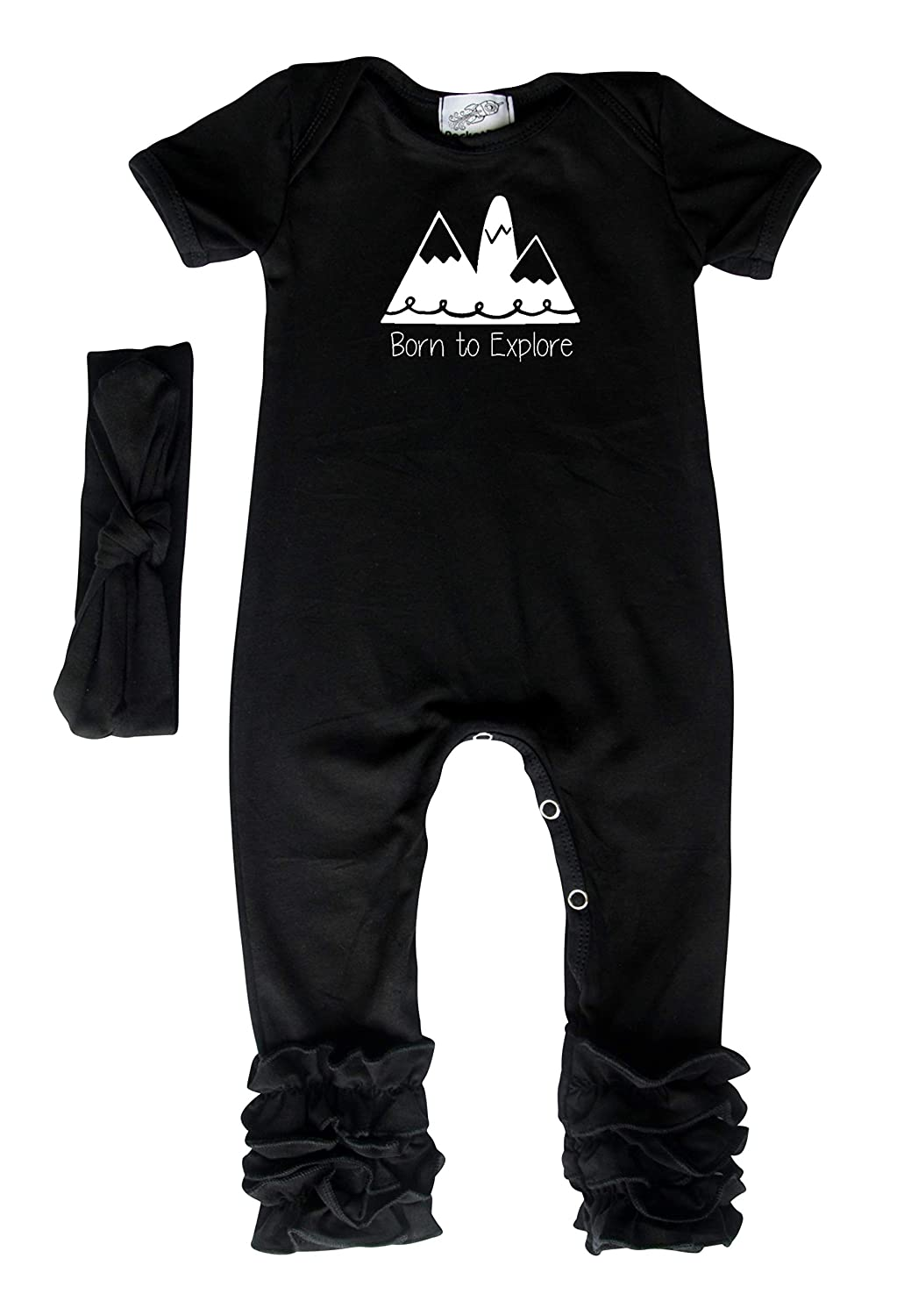 Born to Explore Baby Romper and Bodysuit for Boys and Girls