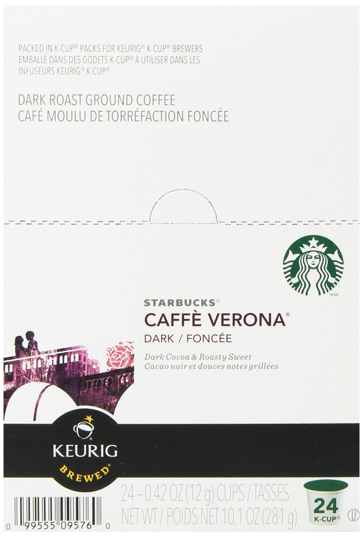 Starbucks Caffe Verona Dark, K-Cup for Keurig Brewers, 96 Count by Starbucks