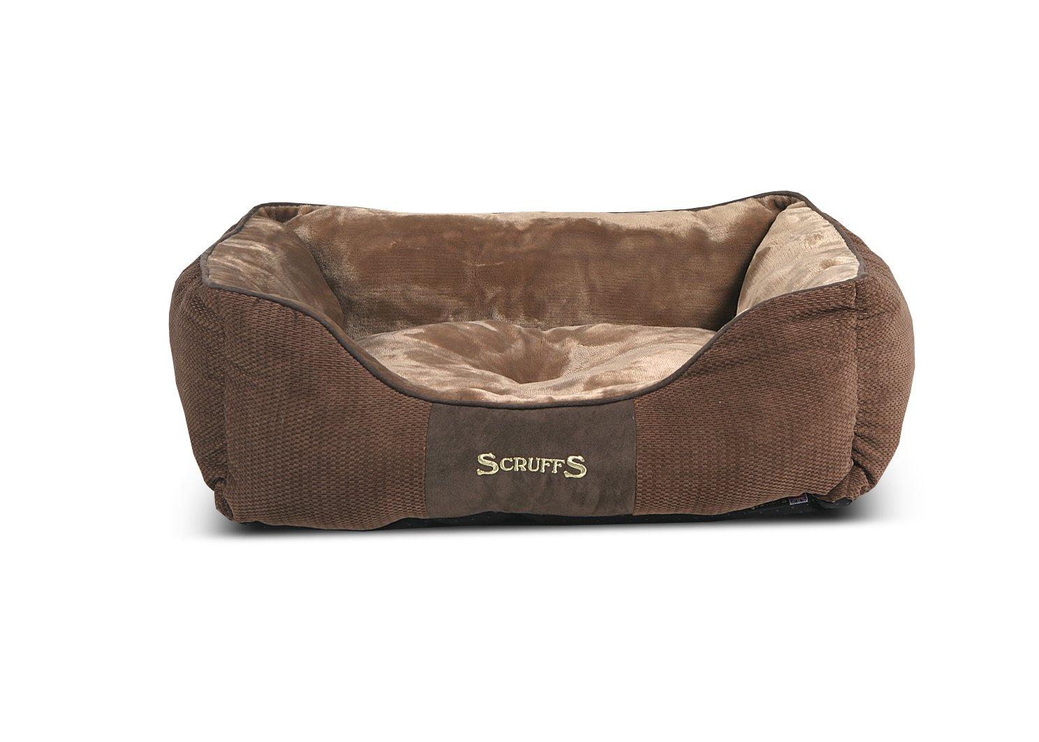 Scruffs Dog Box Bed, Chocolate