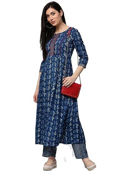 9fbe78c6b0b9c Jaipur Kurti Women Indigo Floral Print A-line 49