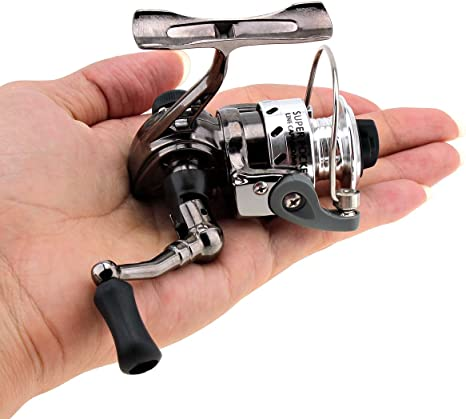 Origlam Mini pesca Carretes Spinning Carrete 4,3: 1 gear Metal ...