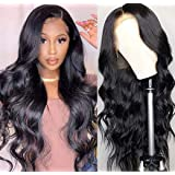 Luduna Lace Front Wigs Human Hair with Baby Hair 150% Density Body Wave Wigs 100% Uprocessed Brazilian Pre Plucked Glueless Lace Front Human Hair Replacement Wigs for Black Woman (10'',Natural Color)
