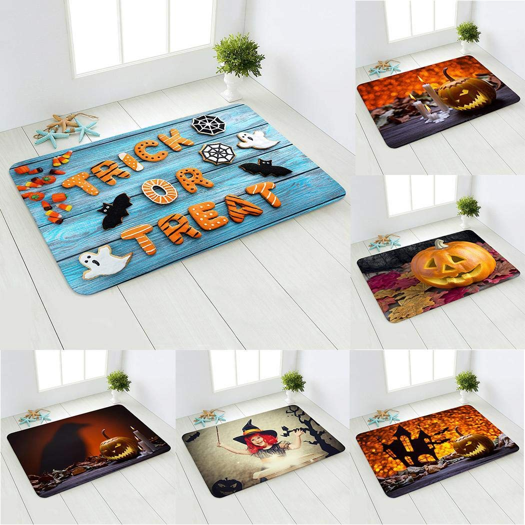 Beautiful and colorful doormat for Halloween!