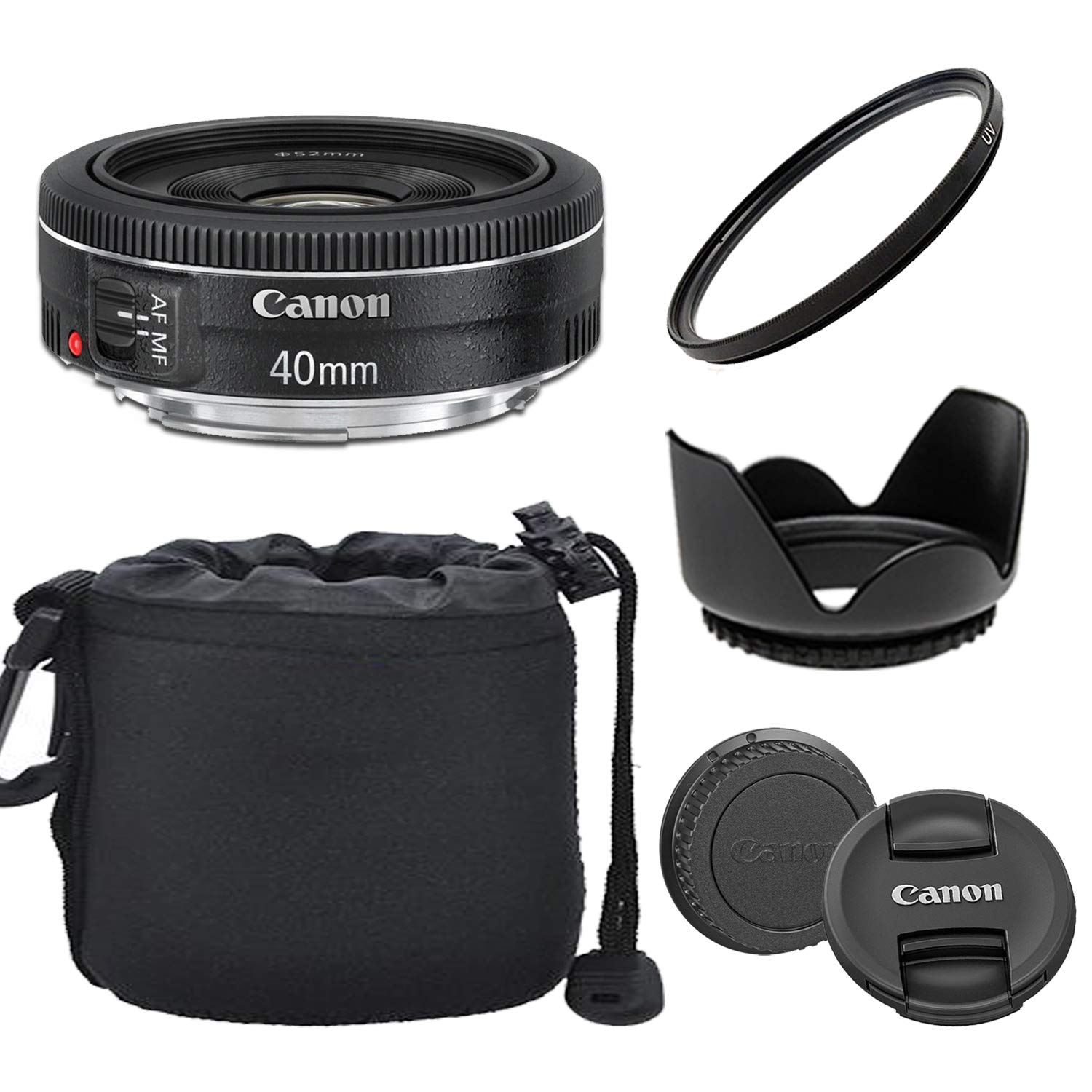 Canon EF 40mm f/2.8 STM Lens with Optimal Accessory Bundle by Canon (GP)