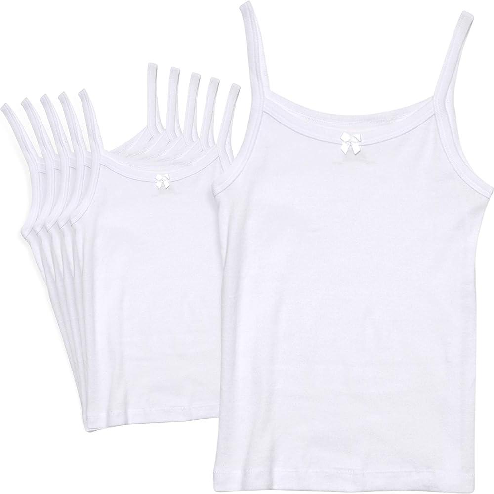 Amazon.com: Rene Rofe Girl Undershirt Camisole Tank Tops, White, Toddler  (2T) (Pack of 6): Clothing