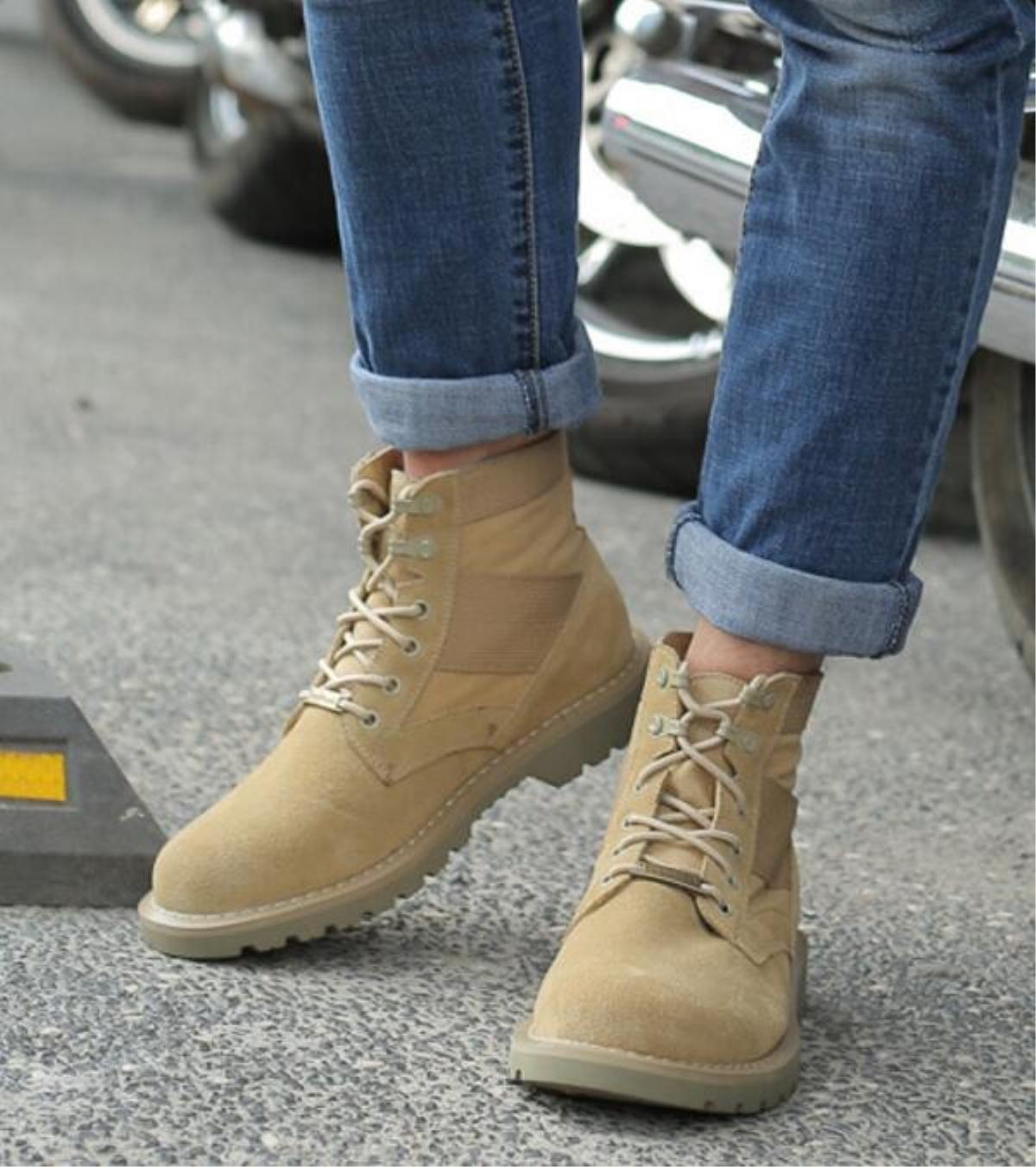 Neue Männer Leder Martin Stiefel Outdoor Anti-Rutsch Große Größen Schuhe Schuhe Schuhe 39-44 13784b