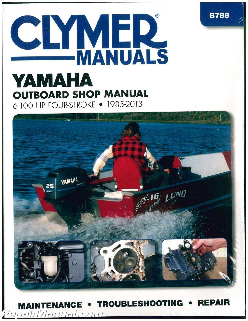B788 Yamaha 6 -100hp Outboard Repair Manual 1985-2013 by ... on