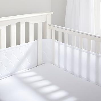 BreathableBaby Deluxe Embossed Mesh Crib Liner White