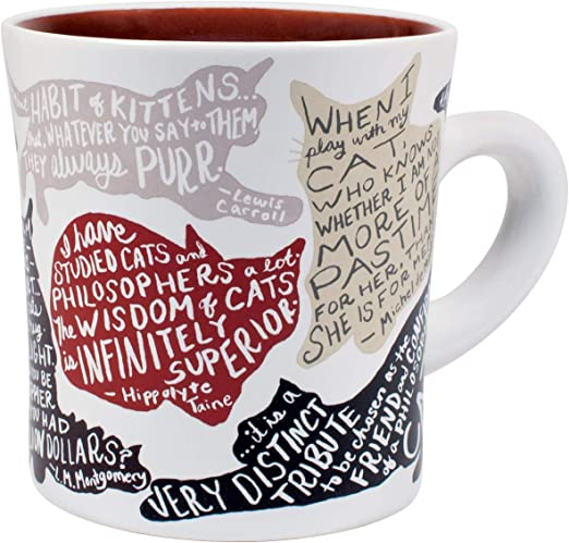 com literary cat mug kitten quotes from famous writers