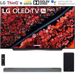 "LG OLED65C9PUA 65"" C9 Smart OLED TV w/AI ThinQ (2019) with SL9YG 4.1.2 Channel High Res Audio Sound Bar Bundle"