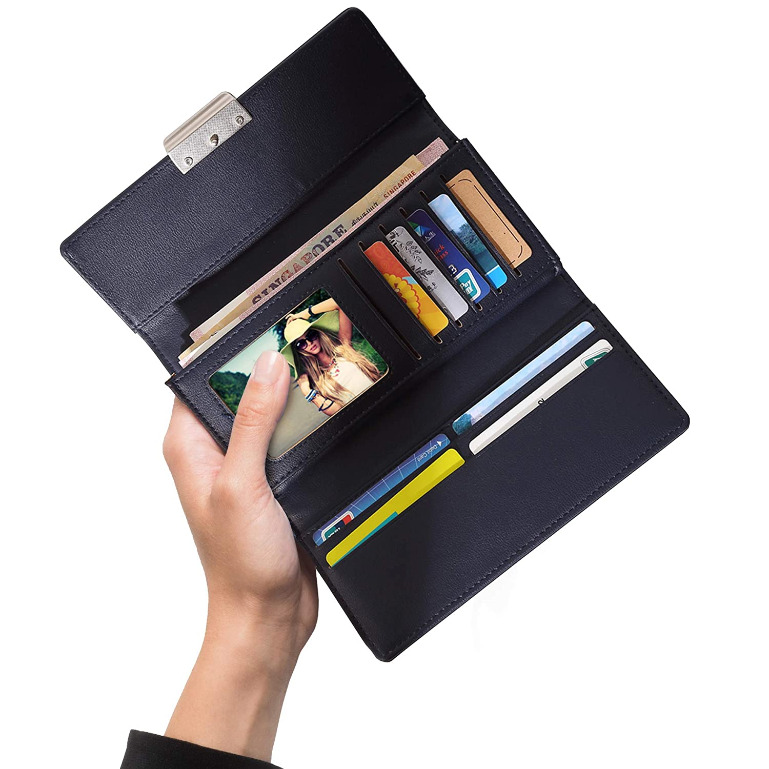 RFID Blocking Wallets for Women. Stylish Leather Clutch With RFID Protection (Trifold) For Safe Travel Anywhere.