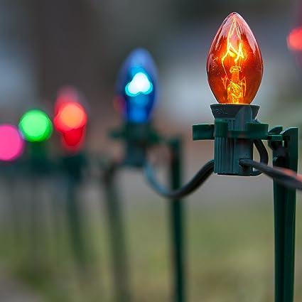 C7 Christmas Lights.Amazon Com Set Of 100 C7 Christmas Pathway Lights