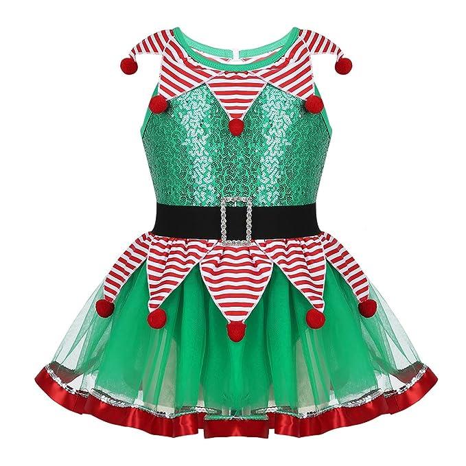Amazon.com: moily Little Girls Santa Claus Spirirt Costume ...