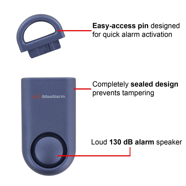 iMaxAlarm SOS Alert Personal Alarm - 130dB Alarm - Safety & Security Emergency Device - Matte Blue by iMaxAlarm (Image #3)