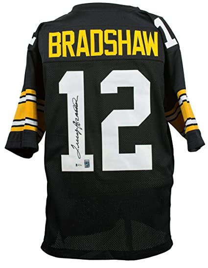 detailed look 98986 0bc87 Signed Terry Bradshaw Jersey - Custom Black Pro Style BAS+ ...