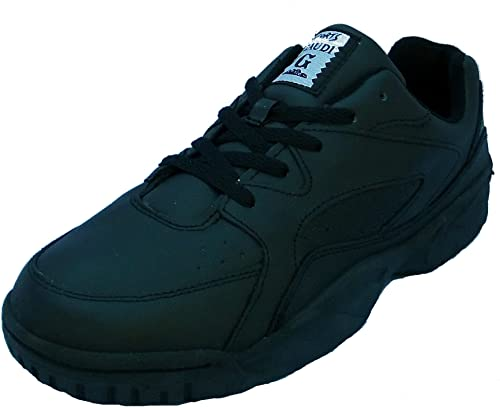 WIDE FITTING MENS TRAINER, LEATHER